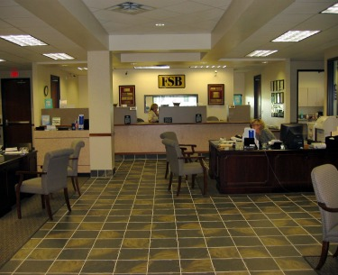 First State Bank interior